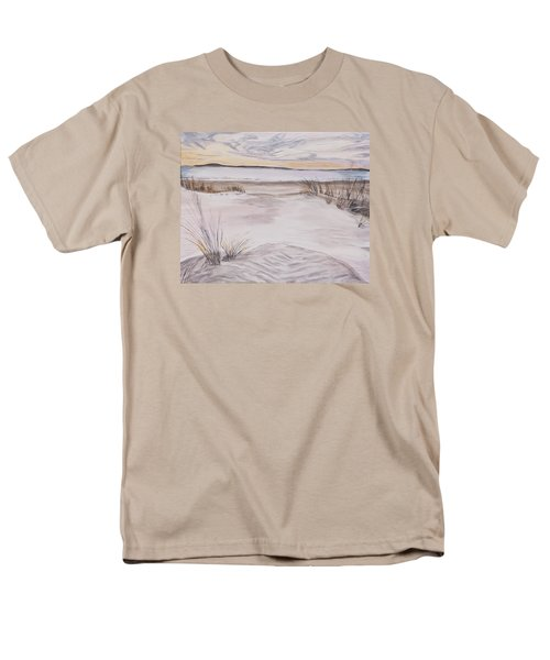 Men's T-Shirt  (Regular Fit) featuring the painting Santa Cruz Sunset by Ian Donley