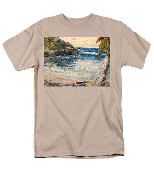 Men's T-Shirt  (Regular Fit) featuring the painting Saturday Afternoon  by Alan Lakin