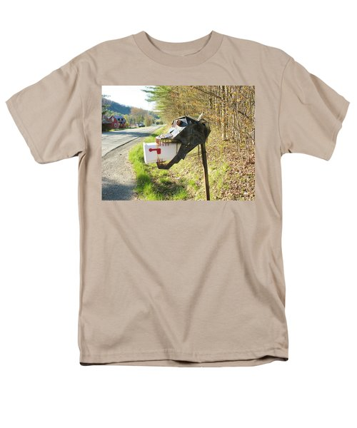 Men's T-Shirt  (Regular Fit) featuring the photograph Scary Mailbox by Sherman Perry
