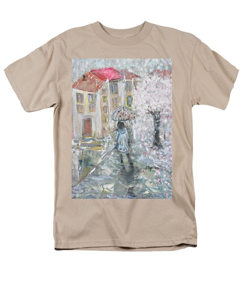 Men's T-Shirt  (Regular Fit) featuring the painting Scent Of Spring by Evelina Popilian