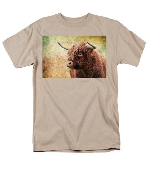 Scottish Highland Steer Men's T-Shirt  (Regular Fit) by Steve McKinzie