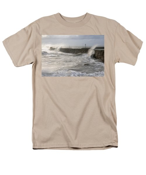 Men's T-Shirt  (Regular Fit) featuring the photograph Scottish Sea Storm by Jeremy Voisey