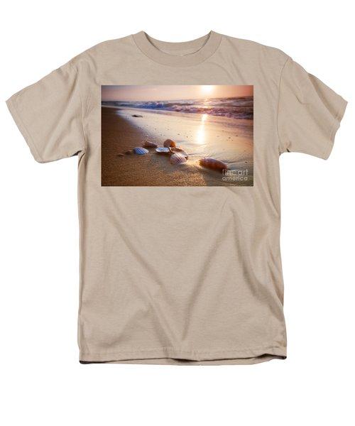 Sea Shells On Sand Men's T-Shirt  (Regular Fit) by Michal Bednarek