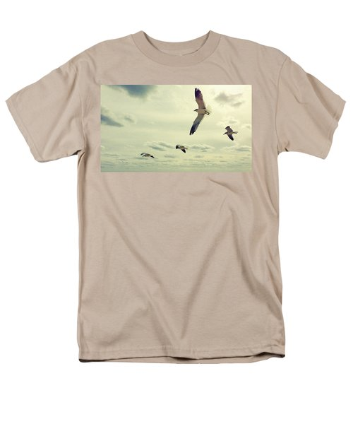 Seagulls In Flight Men's T-Shirt  (Regular Fit) by Bradley R Youngberg
