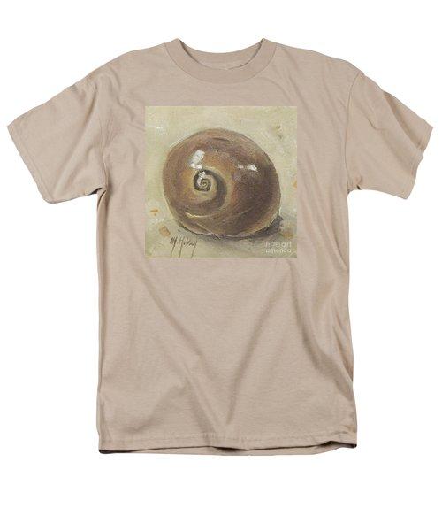 Seashell Beach Moon Shell Snail  Men's T-Shirt  (Regular Fit) by Mary Hubley
