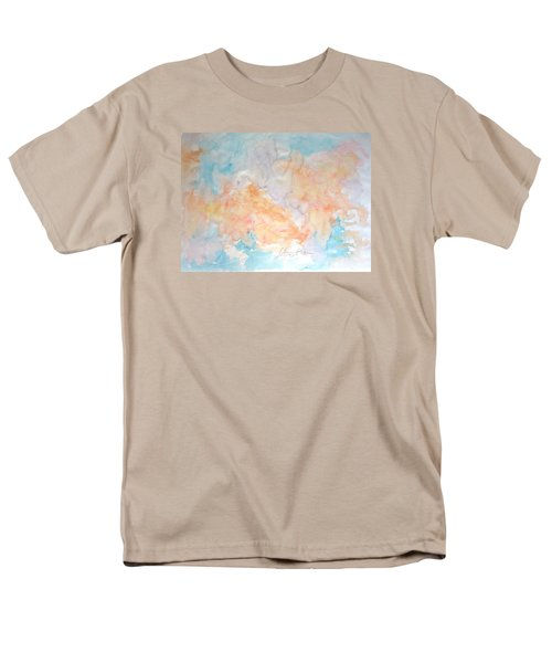 Men's T-Shirt  (Regular Fit) featuring the painting Seaside In Summer by Esther Newman-Cohen