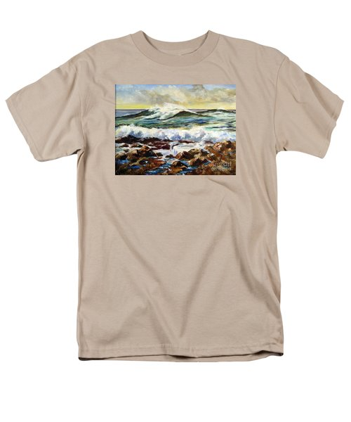 Men's T-Shirt  (Regular Fit) featuring the painting Seawall by Lee Piper