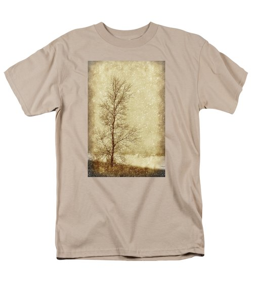 Sentinel Tree In Winter Men's T-Shirt  (Regular Fit) by Nikolyn McDonald