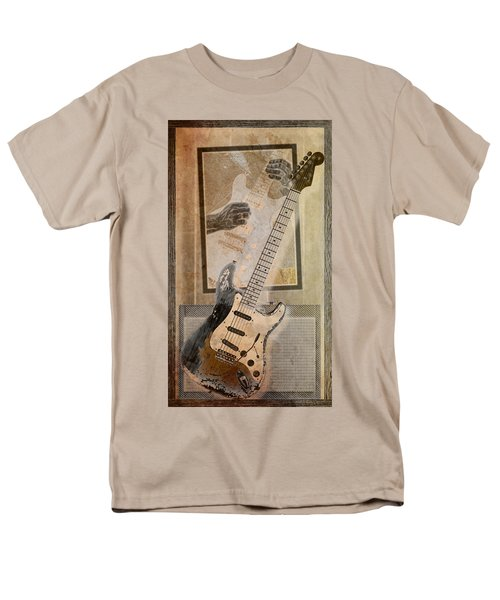 Men's T-Shirt  (Regular Fit) featuring the digital art Sepia Strat by WB Johnston