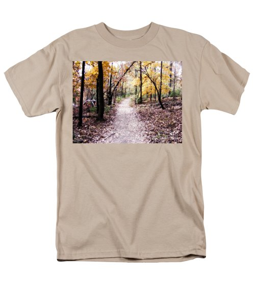 Men's T-Shirt  (Regular Fit) featuring the photograph Serenity Walk In The Woods by Peggy Franz