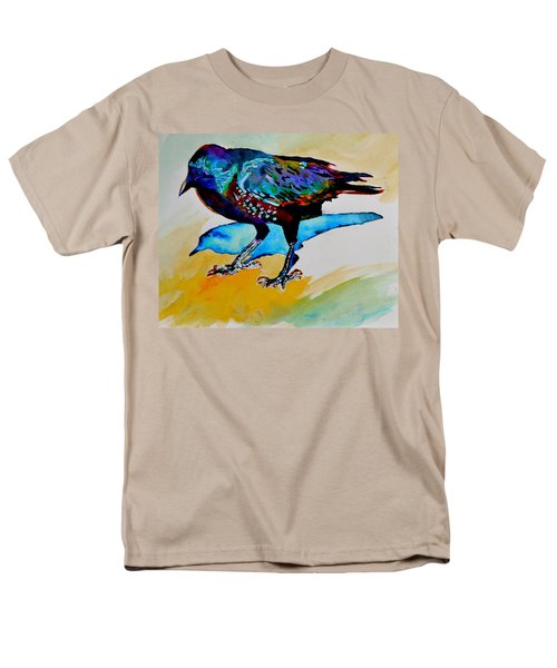 Men's T-Shirt  (Regular Fit) featuring the painting Shadowland Visitor by Beverley Harper Tinsley