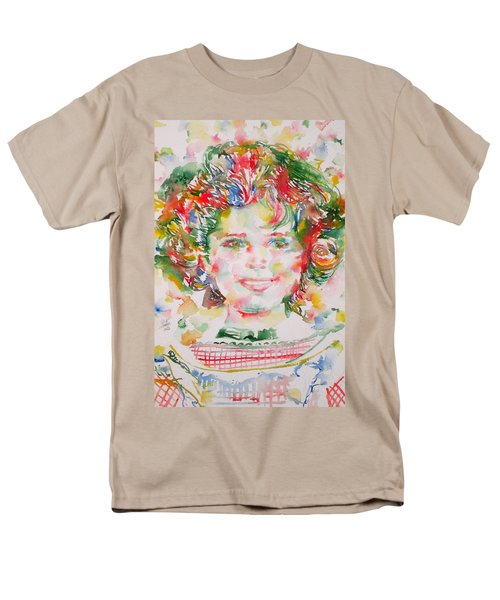 Shirley Temple - Watercolor Portrait.1 Men's T-Shirt  (Regular Fit) by Fabrizio Cassetta