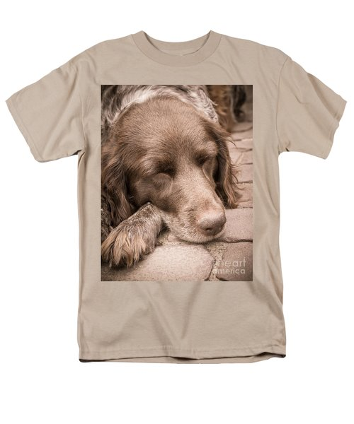 Men's T-Shirt  (Regular Fit) featuring the photograph Shishka Dog Dreaming The Day Away by Peta Thames