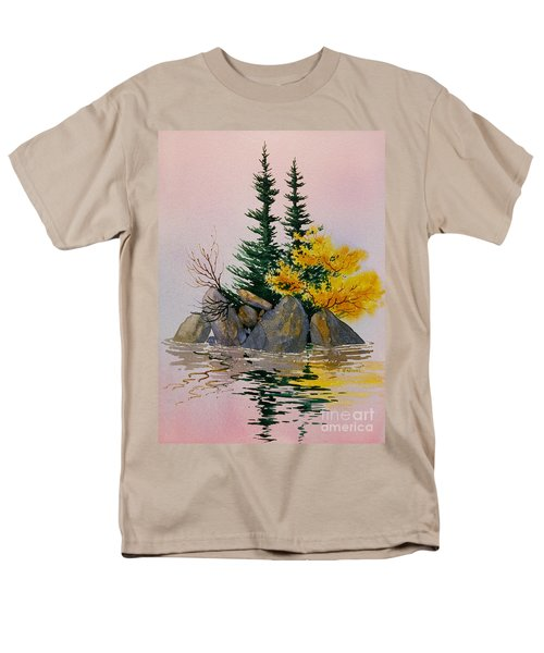 Men's T-Shirt  (Regular Fit) featuring the painting Sitka Isle by Teresa Ascone