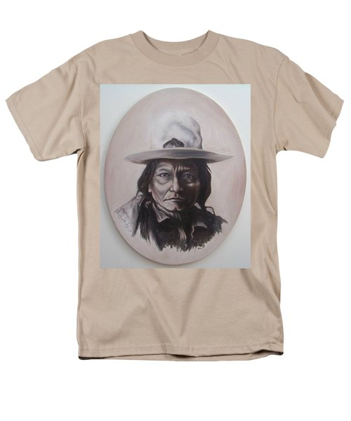 Men's T-Shirt  (Regular Fit) featuring the painting Sitting Bull by Michael  TMAD Finney
