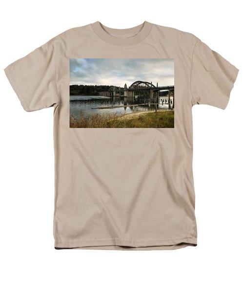 Siuslaw River Bridge Men's T-Shirt  (Regular Fit) by Belinda Greb