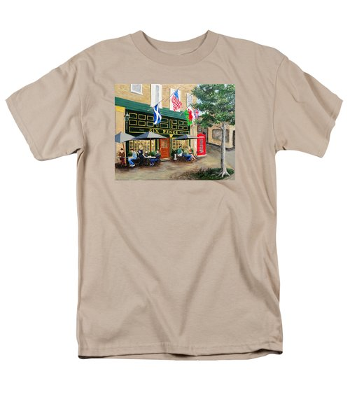 Men's T-Shirt  (Regular Fit) featuring the painting Six Pence Pub by Marilyn Zalatan