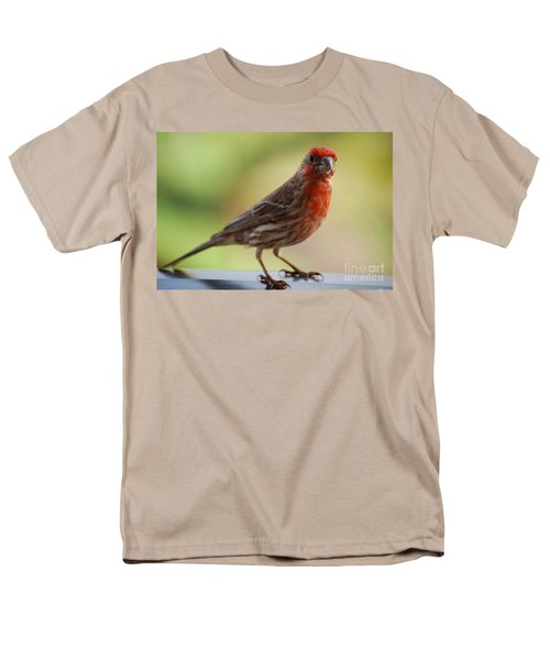 Small Brown And Red Bird Men's T-Shirt  (Regular Fit) by DejaVu Designs