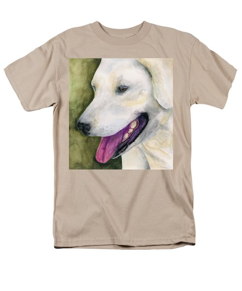 Men's T-Shirt  (Regular Fit) featuring the painting Smiling Lab by Stephen Anderson