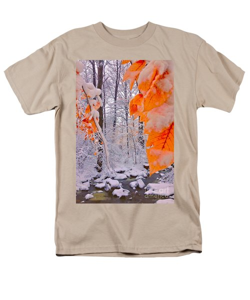 Snow Covered Woods And Stream Men's T-Shirt  (Regular Fit) by Todd Breitling