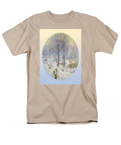 Men's T-Shirt  (Regular Fit) featuring the painting Snow Day by Donna Tucker