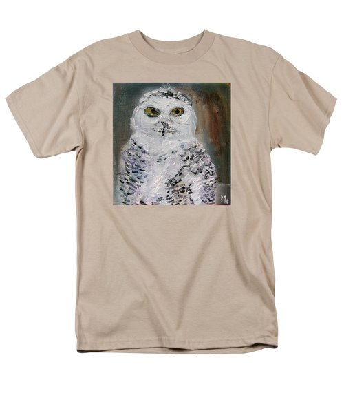 Snow Owl Men's T-Shirt  (Regular Fit) by Michael Helfen