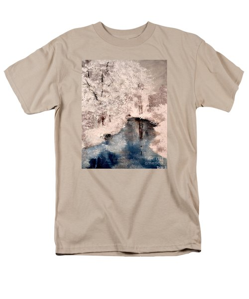 Men's T-Shirt  (Regular Fit) featuring the painting Winter Wonderland by Denise Tomasura