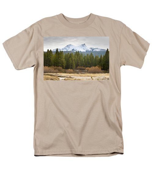 Men's T-Shirt  (Regular Fit) featuring the photograph Snowy Fall In Yosemite by David Millenheft