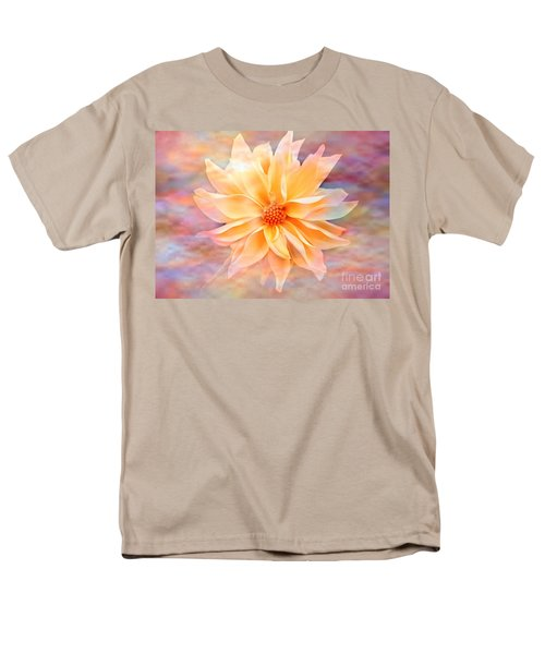 Men's T-Shirt  (Regular Fit) featuring the photograph Soft Delightful Dahlia by Judy Palkimas