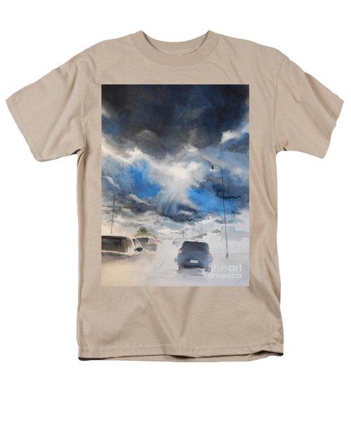 South Maple Road   Ann Arbor Michigan Men's T-Shirt  (Regular Fit) by Yoshiko Mishina