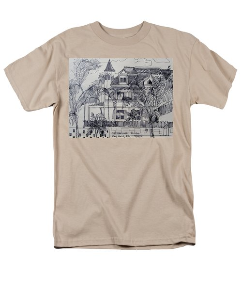 Men's T-Shirt  (Regular Fit) featuring the mixed media Southernmost House  Key West Florida by Diane Pape