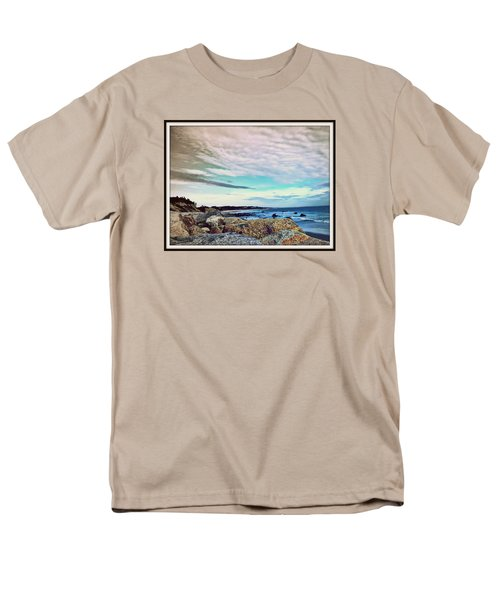 Squibby Cliffs And Mackerel Sky Men's T-Shirt  (Regular Fit) by Kathy Barney