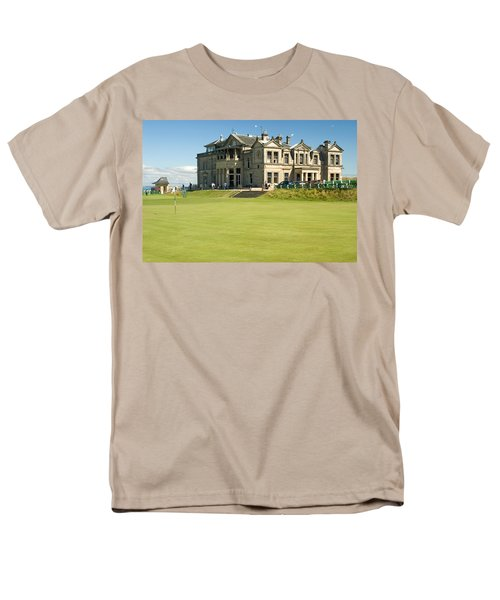 Men's T-Shirt  (Regular Fit) featuring the photograph St Andrews Final Green And Clubhouse  by Jeremy Voisey
