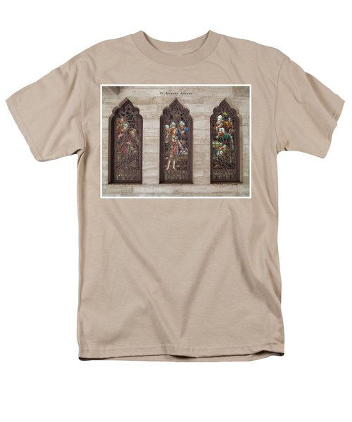 Men's T-Shirt  (Regular Fit) featuring the photograph St Josephs Arcade - The Mission Inn by Glenn McCarthy Art and Photography