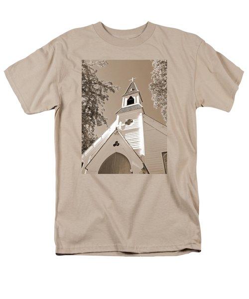 St. Paul's Church Port Townsend In Sepia Men's T-Shirt  (Regular Fit) by Connie Fox