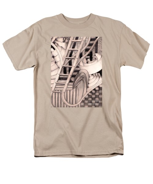 Men's T-Shirt  (Regular Fit) featuring the drawing Stairway To.... by John Stuart Webbstock