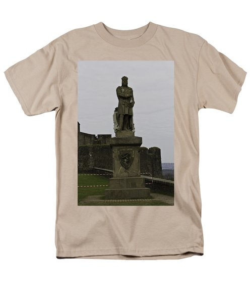 Statue Of Robert The Bruce On The Castle Esplanade At Stirling Castle Men's T-Shirt  (Regular Fit) by Ashish Agarwal