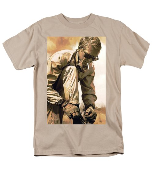 Steve Mcqueen Artwork Men's T-Shirt  (Regular Fit) by Sheraz A