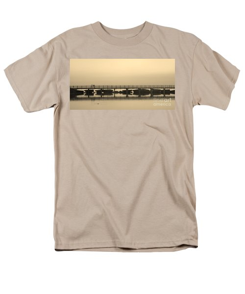 Men's T-Shirt  (Regular Fit) featuring the photograph Still Lake by Clare Bevan