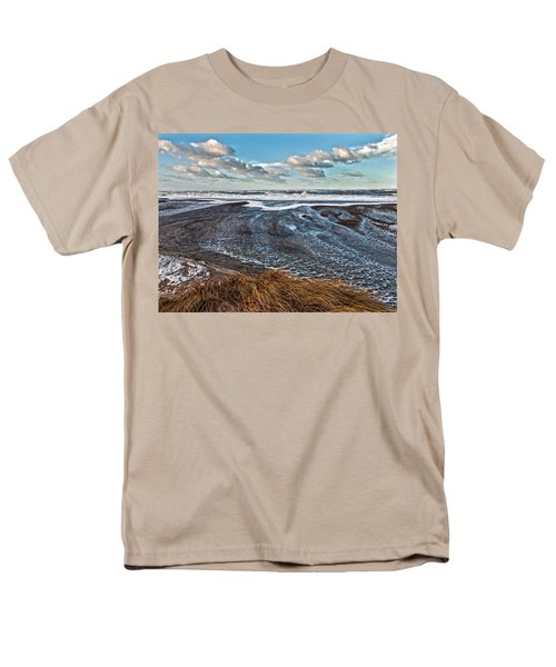 Stormy Beach Men's T-Shirt  (Regular Fit) by Mike Santis