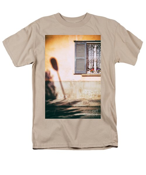 Men's T-Shirt  (Regular Fit) featuring the photograph Street Lamp Shadow And Window by Silvia Ganora