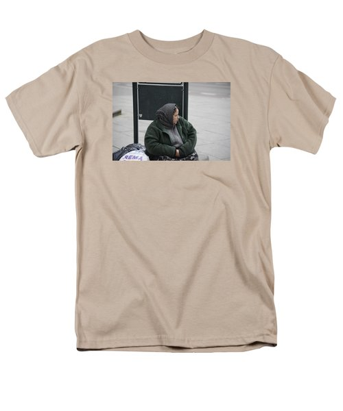 Men's T-Shirt  (Regular Fit) featuring the photograph Street People - A Touch Of Humanity 9 by Teo SITCHET-KANDA