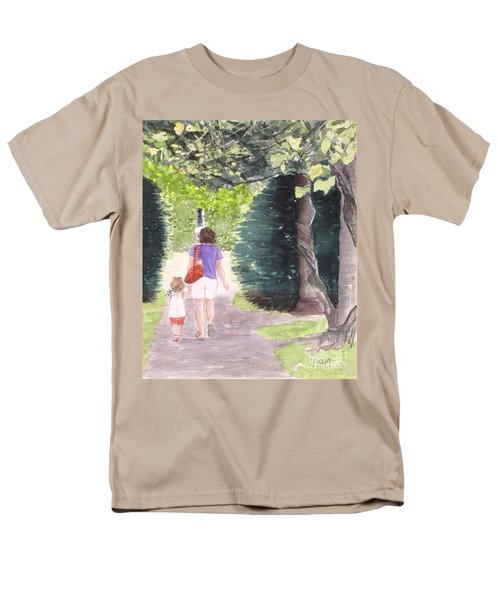 Men's T-Shirt  (Regular Fit) featuring the painting Strolling With Mom by Carol Flagg