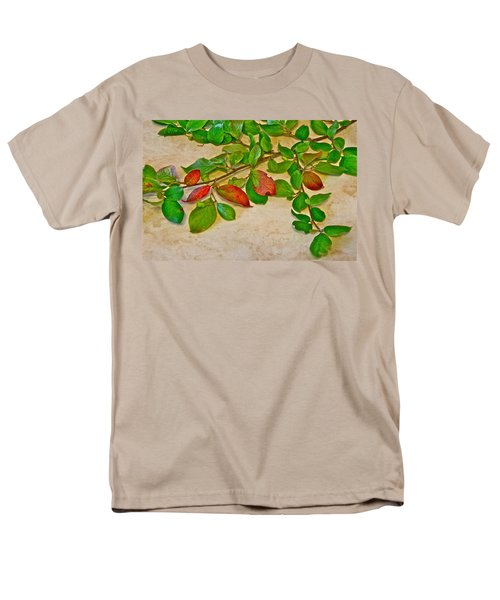 Men's T-Shirt  (Regular Fit) featuring the photograph Summer Leaves by Johanna Bruwer