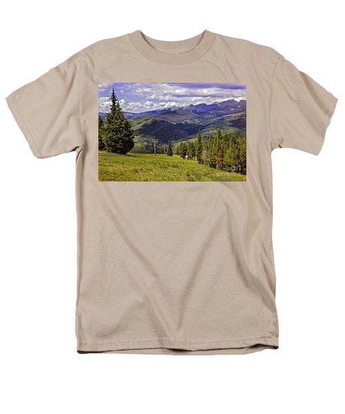 Summer Lifts - Vail Men's T-Shirt  (Regular Fit) by Madeline Ellis