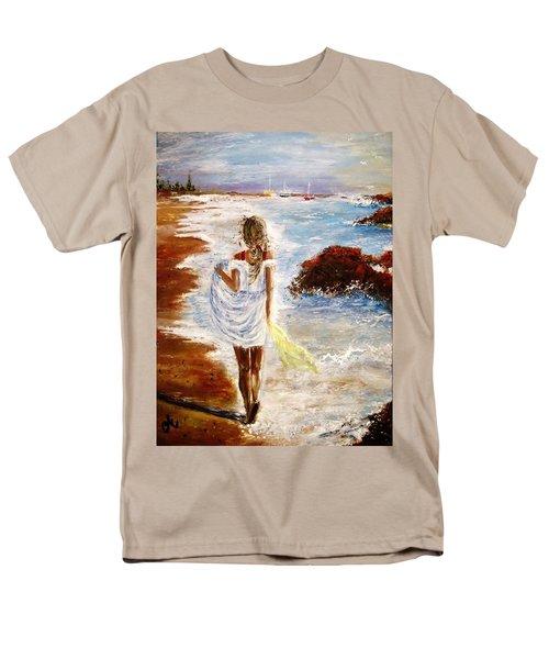 Men's T-Shirt  (Regular Fit) featuring the painting Summer Memories by Cristina Mihailescu