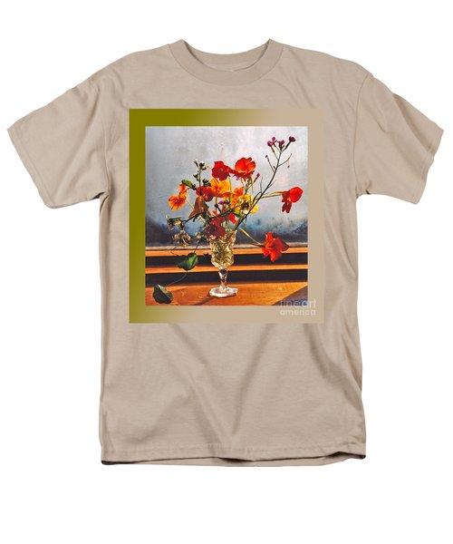 Sun Lite Nasturtium Flowers And Company Men's T-Shirt  (Regular Fit) by Patricia Keller
