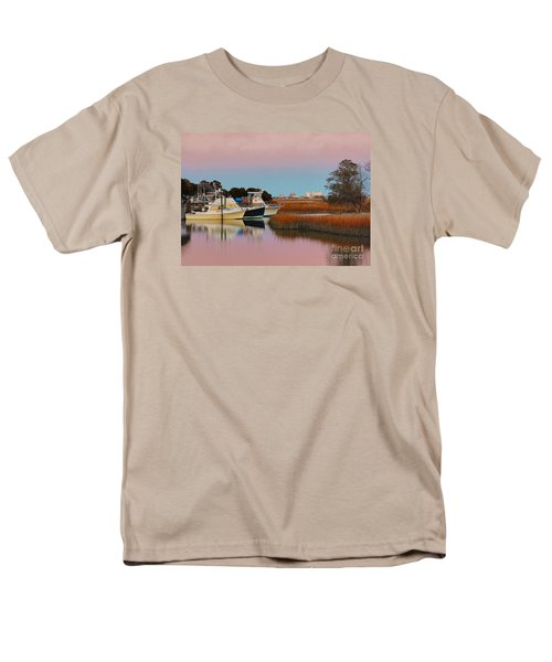 Men's T-Shirt  (Regular Fit) featuring the photograph Sun Setting At Murrells Inlet by Kathy Baccari