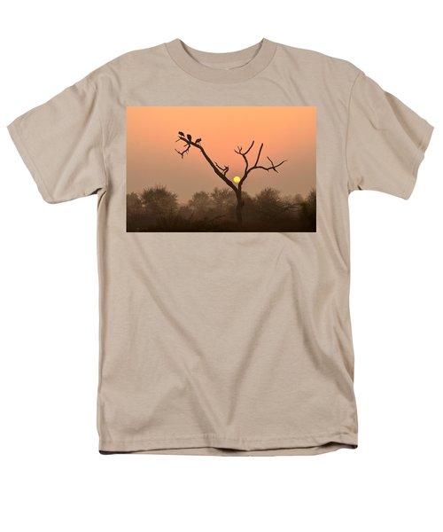 Sunrise At Bharatpur Men's T-Shirt  (Regular Fit) by Fotosas Photography