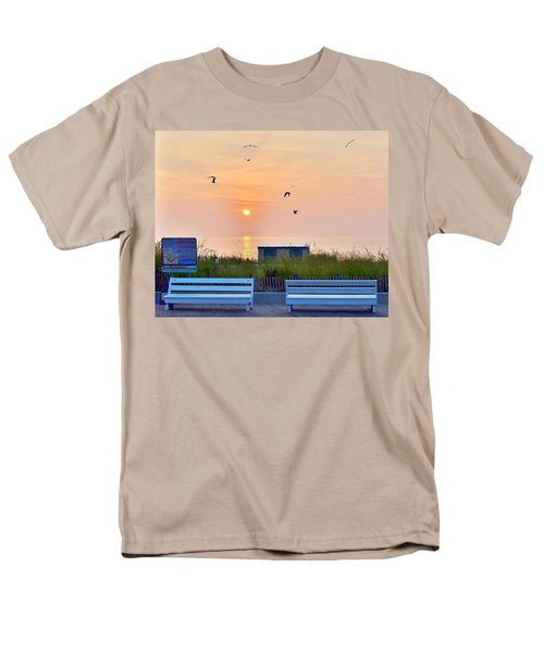 Sunrise At Rehoboth Beach Boardwalk Men's T-Shirt  (Regular Fit)